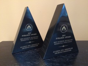 PYRAMID AWARD RECIPIENT for Best Interior Decorating & Best Exterior Decorating